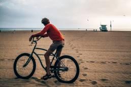 Verenigde Staten Los Angeles Santa Monica Fiets Strand Gijs